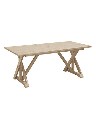 "Wide Dining Table with 2"" Umbrella Hole"